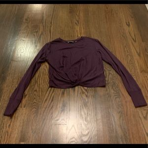 Athleta twist front sweatshirt xxs deep purple